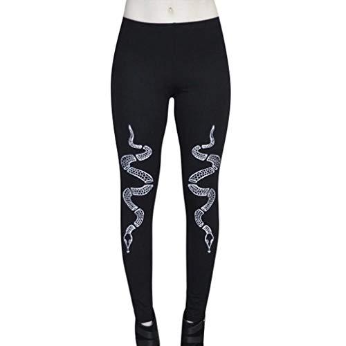TEELONG Hosen Damen Mode Gothic Style Stretch dünne Gamaschen Goth Sneaker Print Strumpfhosen Jogginghose Trainingshose Trainingsanzüge Overalls Fleece-Hose(XXXL, C)