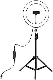 1.1m Tripod Mount + 26cm LED Ring Vlogging Video Light Live Broadcast Kits