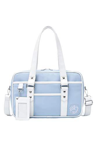 Borsa da scuola giapponese borsa in pelle PU Duffle Bag High School Studenti Ita Bag JK Uniform Bag, Blu (Blu), Taglia unica