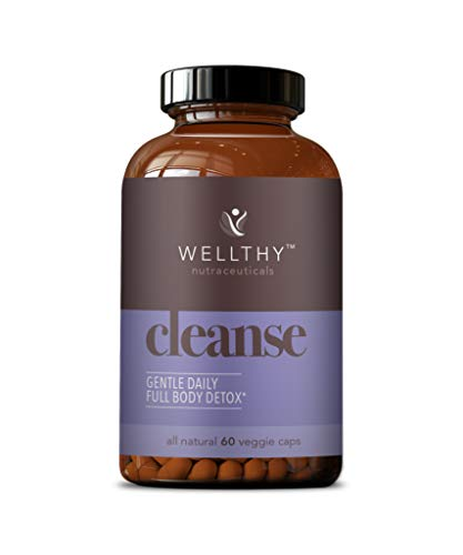 Wellthy Cleanse All Natural Gentle Daily Full Body Detox, 60 Veggie Capsules