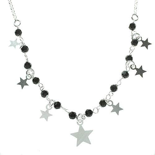 Collar con estrellas y cristales Swarovski de Plata de Ley 925 - Gargantillas de moda