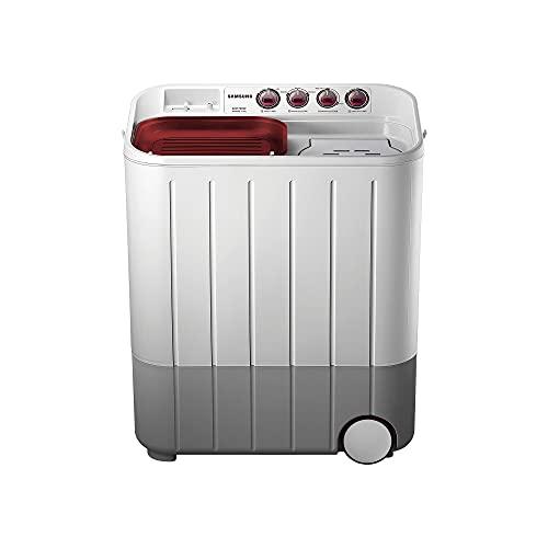Samsung 6.5 kg Semi-Automatic 5 Star Top Loading Washing Machine (WT667QPNDPGXTL, White and...