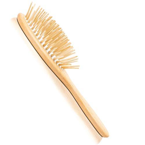ruhi® Haarbürste VEGAN [NEU] 100{82092dbe7b9716c32624f2dfb940a2f0c68604e0babcd9574845b1d82493fbe0} natürlich handgefertigt in DE plastikfrei zur Kopfmassage (wooden hair brush) |regionales, FSC-zertifiziertes Buchen Holz, Naturkautschuk Kissen