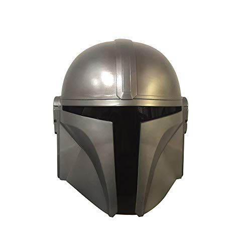 Mandalorian Helm Wars COS Play Modell PVC Silber Weiß - Deluxe Adult Helm Vollgesichtsmaske für Halloween Cosplay Prop-Helm Cosplay Maske TV Drama Film Halloween Requisiten Mann