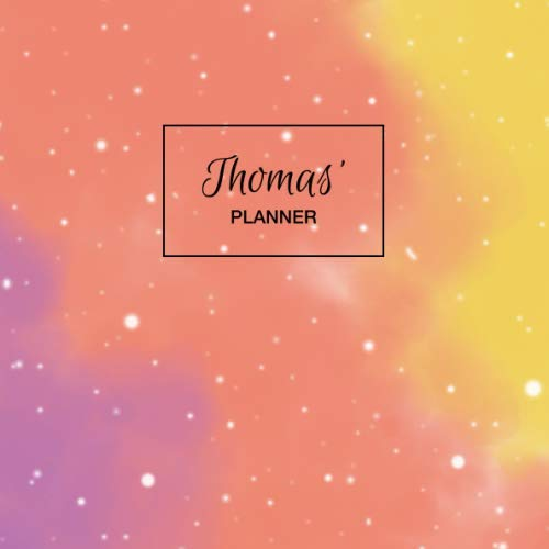 Thomas' Planner: Personalized Organizer with Custom Name. Note Down Your Daily Schedule, To Do List, Goals, Tasks, Priorities. 52 Weeks (1 Full Year) with Weekly Motivational Quotes. Undated