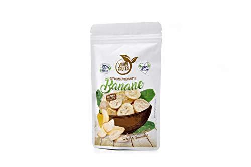 WOW FRUITS Gefriergetrocknete Banane Getrocknete Banane ohne Zucker 100% Gefriergetrocknete Früchte (Vegan Glutenfrei Laktosefrei) Getrocknete Früchte Snacks (25g)