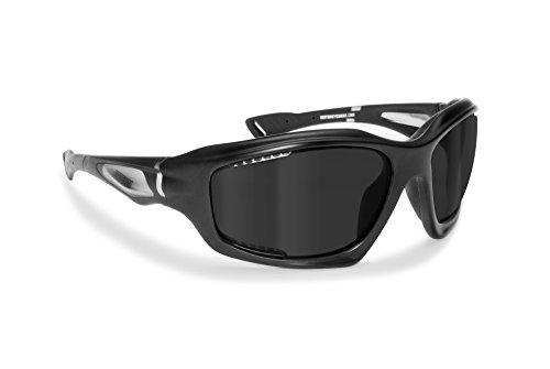 Bertoni Occhiali Sportivi Antivento Avvolgenti Prodotti in leggerissimo TPX per Ciclismo MTB Running Moto Sci Sport Acquatici - Fori di Ventilazione Forzata - MOD. FT1000A