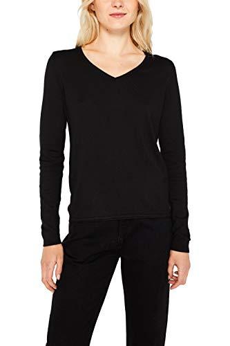 edc by ESPRIT Damen 999Cc1I801 Pullover, Schwarz (Black 001), Small (Herstellergröße: S)