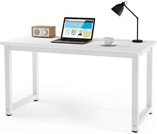 Escritorio de computadora Simple Mesa de 120 x 60 cm Escritorio de Oficina en casa Estación de Trabajo Computadora portátil Estudio de Escritura Madera y Metal