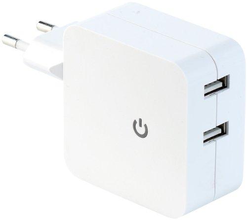 revolt Doppel USB Stecker: Doppel-USB-Netzteil mit 4,2 A Ladestrom (Doppel USB Ladegerät)