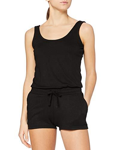 Urban Classics Damen Ladies Melange Hot Jumpsuit, Schwarz (Black/Black 825), Large