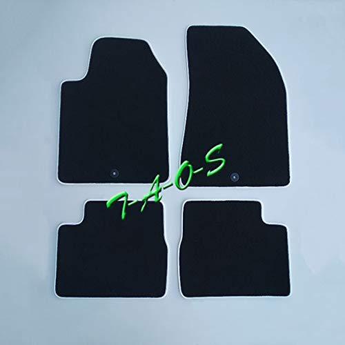 TAOS op maat gemaakte vloermatten gemaakt van tapijt, zwart en witte rand, voor Giulietta vanaf 2010 (1190297901)
