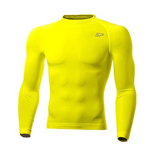 SP Fútbol Térmica Doble Densidad, Camiseta, Amarillo Flúor