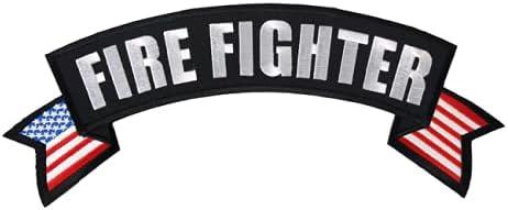 Large Firefighter Rocker Back Patch FD FIRE Department Biker Vest Cut Jacket