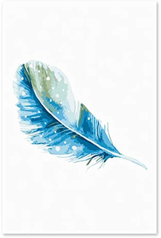 Superlucky Die Blauen Federn schmücken Das Digitale Ölgemälde von Hand. Bilder Malen nach Zahlen Natur Farben 40x50cm Mit Rahmen B07K6LNCJ9 | Vorzüglich