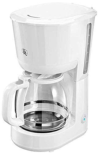 My Routine Filter Kaffeemaschine Weiß | 12 Tassen | 1,5L | Tropfstopp | 1000 W