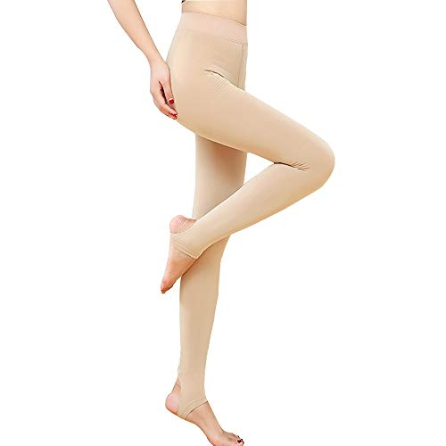 HTTOAR Leggins Termicos Mujer,Leggins Invierno Medias Elásticas de Terciopelo de Cintura Alta para Mujeres Delgadas Talla Europea 32-38 (Desnudo)