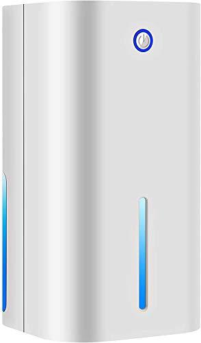 OUTAD Deumidificatore compatto e portatile da 850 ml, mini deumidificatore per umidità, muffe, umidità in casa, cucina, camera da letto, roulotte, ufficio, garage (bianco)