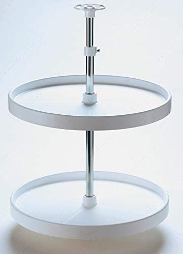 RICHELIEU White Polymer Round Corner Limited time trial price Lazy 2-Shelf Susan Max 75% OFF Cabinet