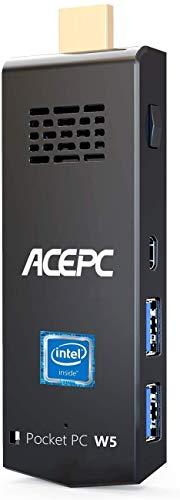 ACEPC Mini PC Stick 4GB RAM 64GB eMMC Computer Stick Intel Atom Z8350 Windows 10 Pro 64bit Soporte 4K HD, 2.4G / 5G WiFi de Doble Banda AC, BT 4.2