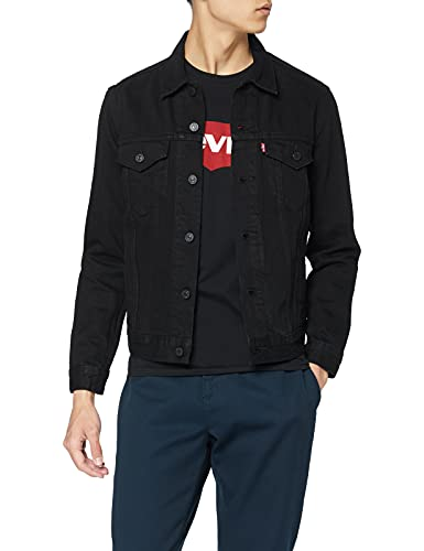 Levi's The Trucker Jacket, Giacca in Jeans Uomo, Nero (Berk Trucker 0306), Small