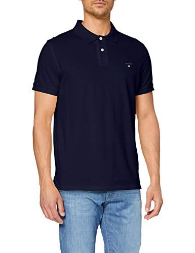 GANT Herren The ORIGINAL Pique SS Rugger Polohemd, Evening Blue, 4XL