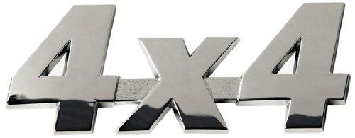 SUMEX Log1338 - Emblema 4X4 Cromado, 35X90 mm