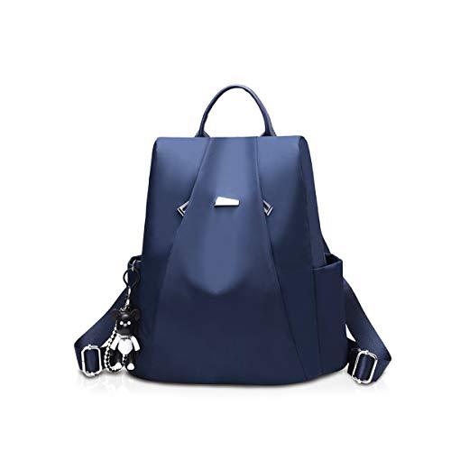 NICOLE & DORIS Fashion Women Backpack Casual Ladies Rucksack Shoulder Handbags School Bag Oxford Cloth Anti-theft Design Dark blue