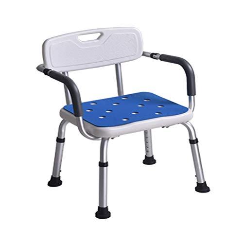 YC Duschhocker mit gepolstertem Sitz - Badewannenstuhl mit Armlehnen für Körperbehinderte, Behinderte, Senioren und ältere Menschen - Verstellbare medizinische Badewannensitzgriffe