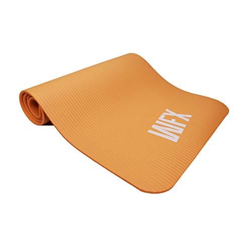#DoYourFitness x World Fitness - Fitnessmatte Yogamatte »Sharma« 183 x 61 x 0,8 cm - rutschfest & robust - Gymnastikmatte ideal für Yoga, Pilates, Workout, Outdoor, Gym & Home - Orange