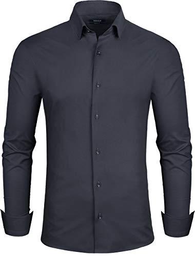 Grin&Bear Hemd, schwarz, Slim, L (98), SH333