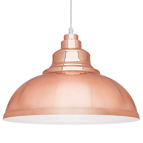 Classic Modern Copper Pendant Light Shade Dome Iconic Kitchen Island Ceiling Lights M0153