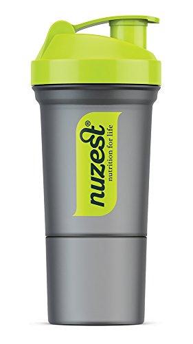 Nuzest Nuzest Shaker mit Pulverhalter 350ml Grün