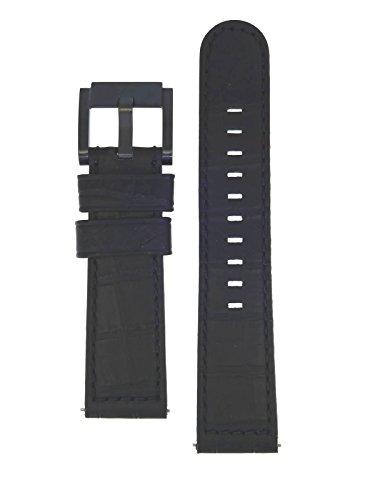 TW Steel Marc Coblen Armband Uhrenband Uhrenarmband Leder 22 MM Kroko Schwarz LB_BK_K_B