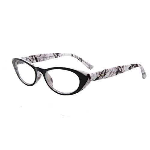(レンサン) LianSan老眼鏡 キャッツアイ 猫目 レディース 女性 おしゃれ リーディンググラス シニアグラス 老眼鏡 L3720 ホワイト +3.50