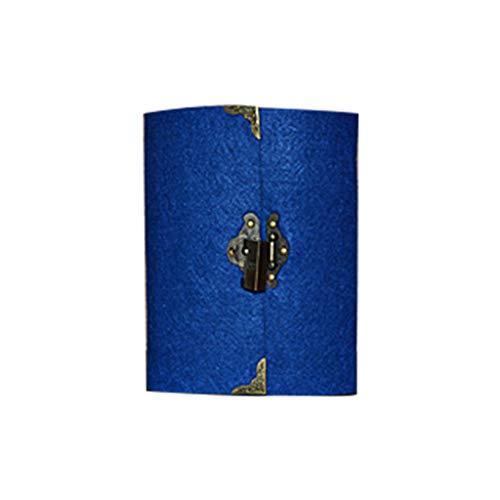 Retro-Reise-Notizbuch mit Schloss und Schlüssel, Tagebuch, Planer, Notizblock, Kraftpapier, zur Verwendung
