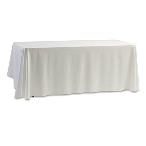 lzndeal Nappe anti-tâches carrée Polyester Noir/Blanc pour Décoration de mariage, Hotel, Banquets, Maison, Restaurant, 140 x 140 cm