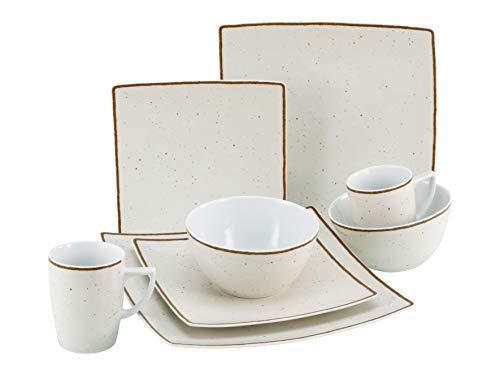 Creatable, 22704 Serie New Elegance Vintage Nature - Vajilla (8 piezas, porcelana), color beige