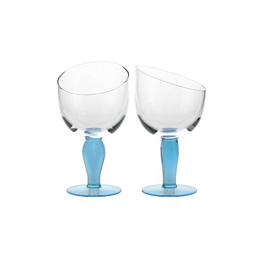 CRISTALICA Eiscremeglas Eisbecher 2er-Set blau Vienna Gelato 330ml