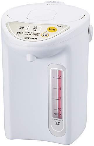 タイガー魔法瓶(TIGER) マイコン電気ポット 保温機能 節電タイマー 3L アーバンホワイト PDR-G300-WU