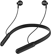 Wireless Earphones Headphones for Huawei Y6 Pro 2017 Sports Bluetooth Wireless Earphone with Deep Bass and Neckband Hands-Free Calling inbuilt Mic Headphones with Long Battery Life and Flexible Headset