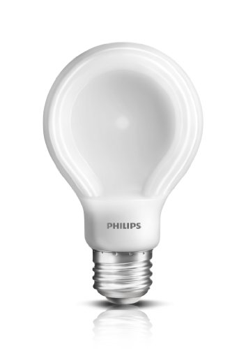 Philips 452978 60-Watt Equivalent SlimStyle A19 LED Light Bulb Soft White, Dimmable