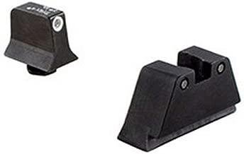 Trijicon GL201-C-600658 Bright & Tough Night Sight Suppressor Set, Glock 17-39 Models, White Front/ black Rear with Green Lamps