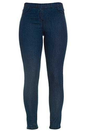 GINA LAURA Damen bis 50, Jeggings Julia, Knöchel-Länge, Slim-Fit, Elastik-Bund, Stretch-Denim, Blue 42 182202 94-42