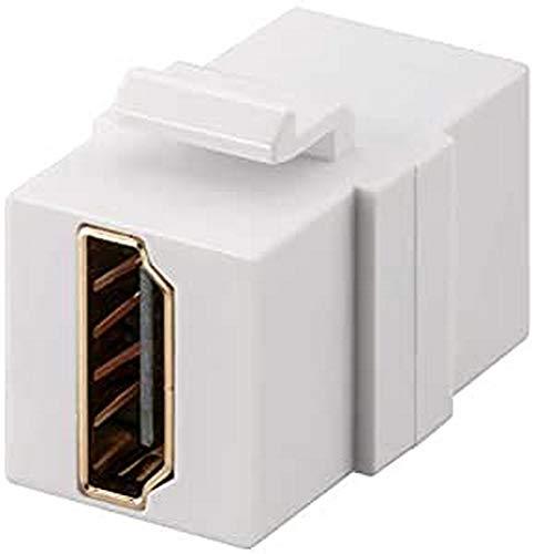 PremiumCord HDMI Keystone-Modul Vergoldete Kontakte, HDMI Buchse auf Buchse - für FULL HD 1080p, 3D, Farbe Weiß