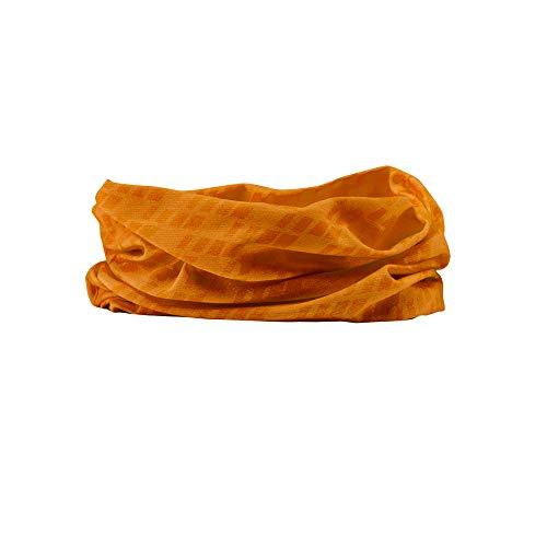 GripGrab Unisex – vuxen cykel multifunktionell halsduk tubhalsduk tunn lätt färgglad halsduk halsvärmare cykling vandring löpning multifunktionell halsduk, orange, en storlek (54–63 cm)