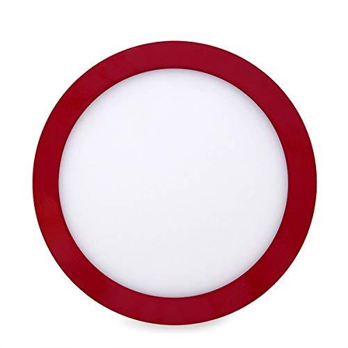 Greenice | Plafón LED Circular Superficie Ø215Mm 18W 1450Lm 30.000H Rojo |...