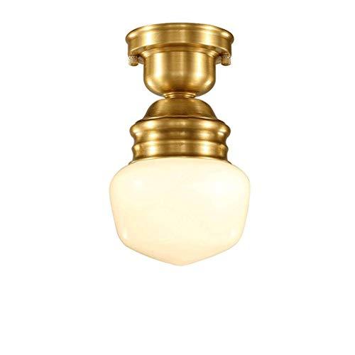 liangzishop Plafón de Techo Luces Luces de Pasillo de Entrada de Techo de Cobre Pendiente de la lámpara del Techo del Accesorio de iluminación de Pasillo Luces del balcón Luces Luz de Techo