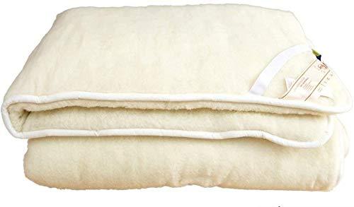 Alpenwolle Unterbett, Matratzenauflage, Bettauflage, Schonbezug 100% Wolle (160x200)