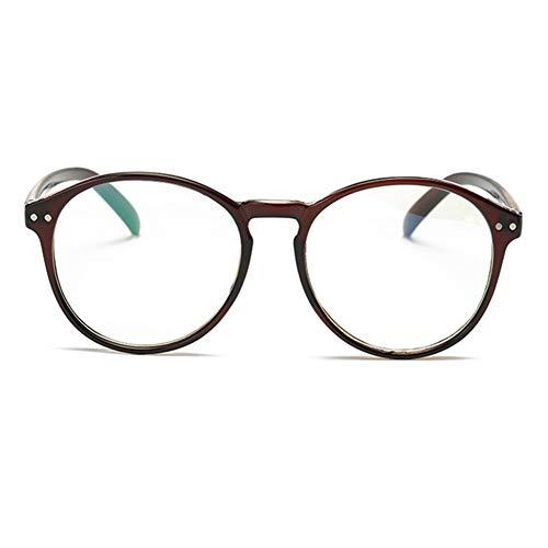 YUNCAT Hornbrille Atzenbrille Nerd Brille Klar Brille Nerdbrille in verschiedenen Farben, Braun, Einheitsgröße